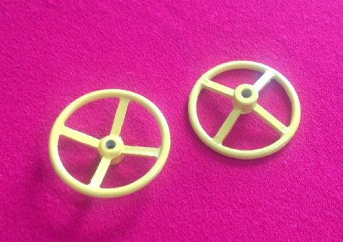 Tri-Ang Triang Large Tin Metal London Double Decker Bus Steering Wheel In Yellow (Each)